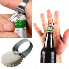 RING Beer Bottle Opener Stainless Steel Finger Thumb Ring
