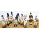 Metal Model Kit F36 Morris Dancers + Musicians OO Scale