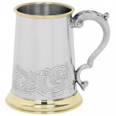 [EP151] 1 Pint Pewter and Brass Tankard