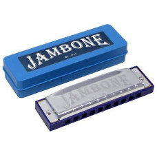 Jambone 10 hole Harmonica in the Key of A, C, D or G